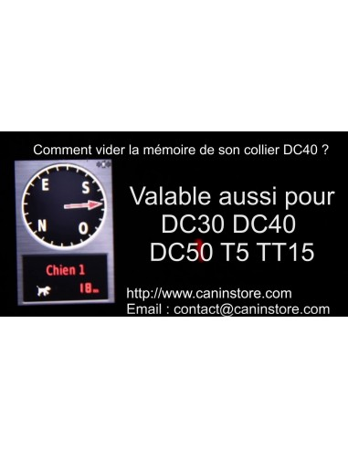 Vider la mémoire d'un collier DC30-DC40-DC50-T5- sur ASTRO 320
